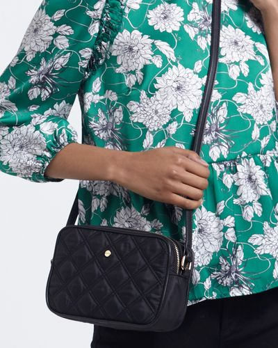 Quilted Double Zip Crossbody