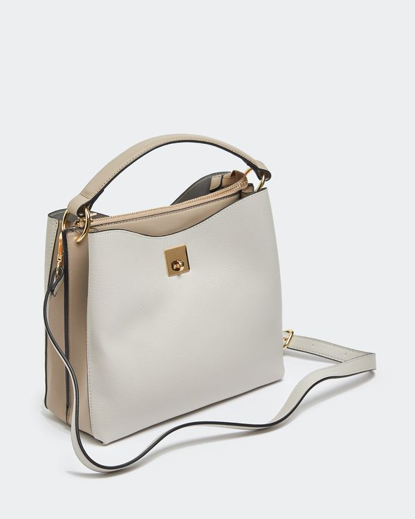 Colour Block Top Handle Bag