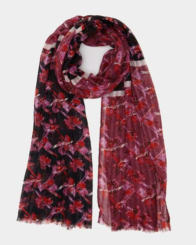 Spliced Floral Scarf
