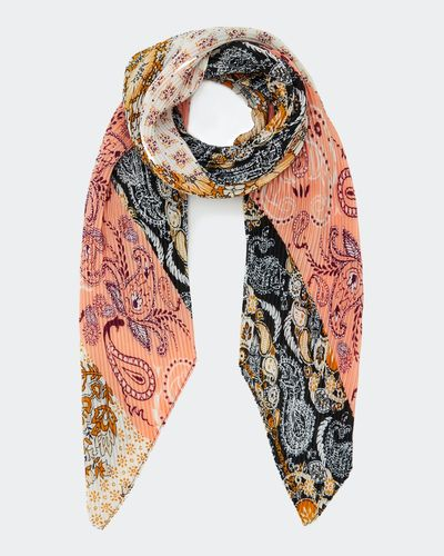 Paisley Pleat Scarf