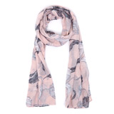 blush Drawn Floral Scarf