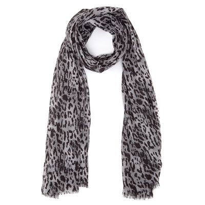 Ruched Leopard Scarf thumbnail