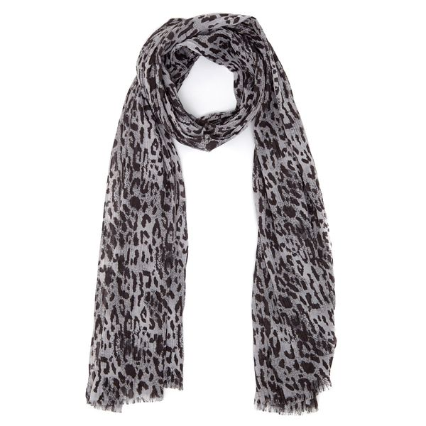 Ruched Leopard Scarf