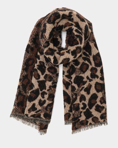 Jacquard Leopard Scarf