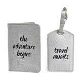 silver Luggage Tag And Passport Set