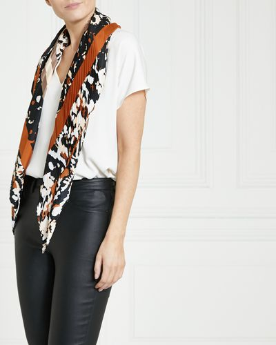 Gallery Abstract Leopard Pleat Scarf