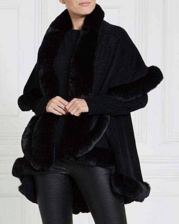 Gallery Faux Fur Trim Cape