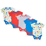 print Boys Printed Bodysuits - Pack Of 5