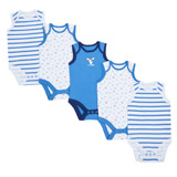 multi Boys Sleeveless Bodysuit - Pack Of 5