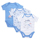 blue Whale Bodysuit - Pack Of 3