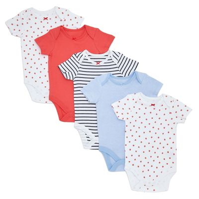 Berry Bodysuits - Pack Of 5