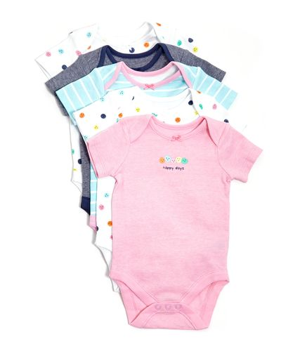 Happy Bodysuits - Pack Of 5