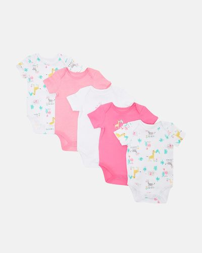 Girls Tropical Bodysuits - Pack Of 5 (0 months-3 years)
