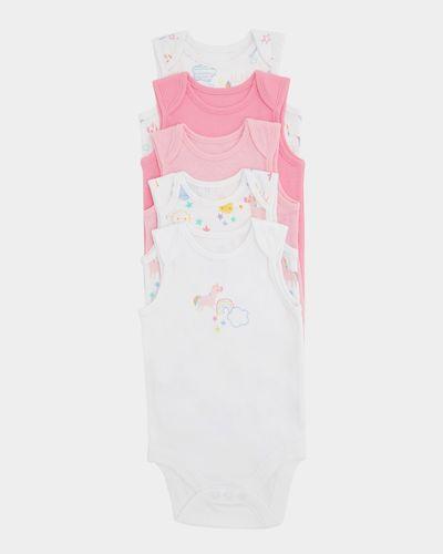 Girls Sleeveless Bodysuits - Pack Of 5 (0 months-3 years)