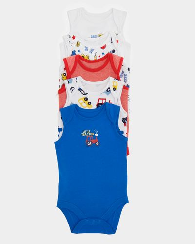 Boys Sleeveless Bodysuits - Pack Of 5 (0 months-3 years)