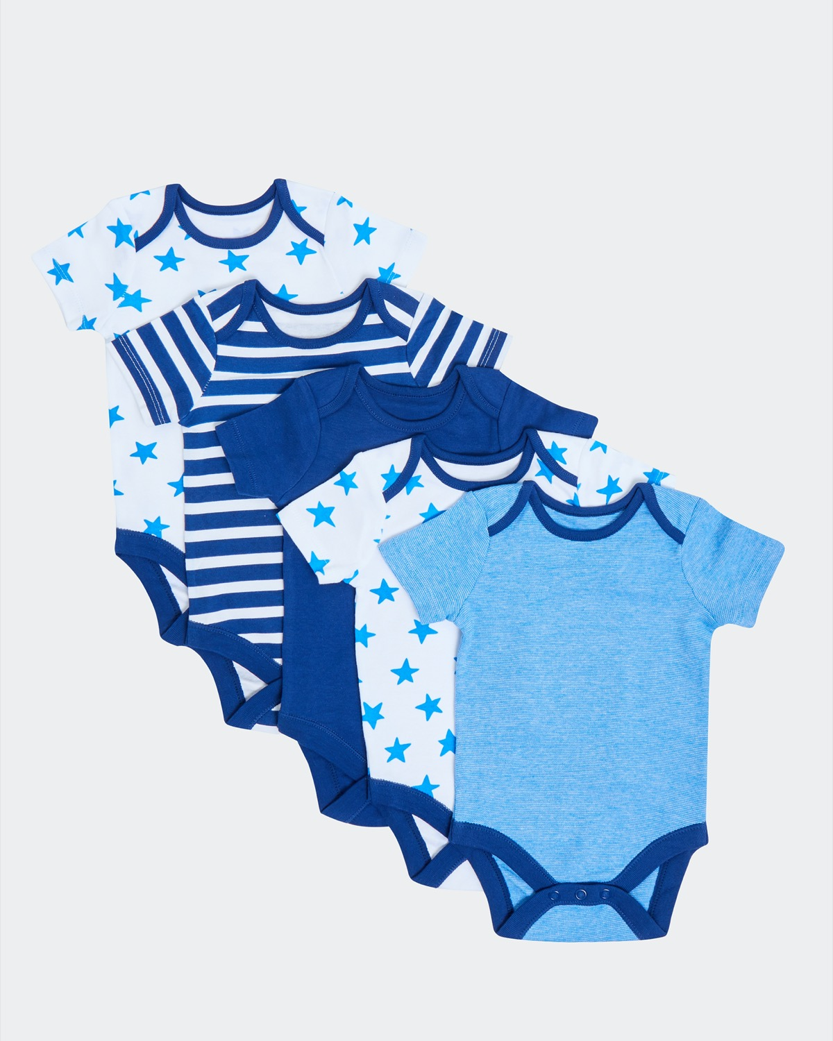 Star Bodysuits - Pack Of 5 (0-18 months)