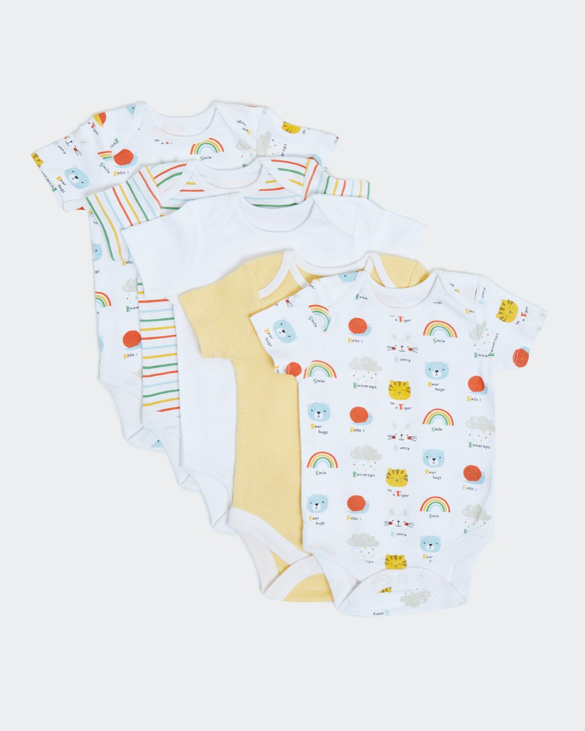Unisex Bodysuits - Pack Of 5 (newborn - 9 months)