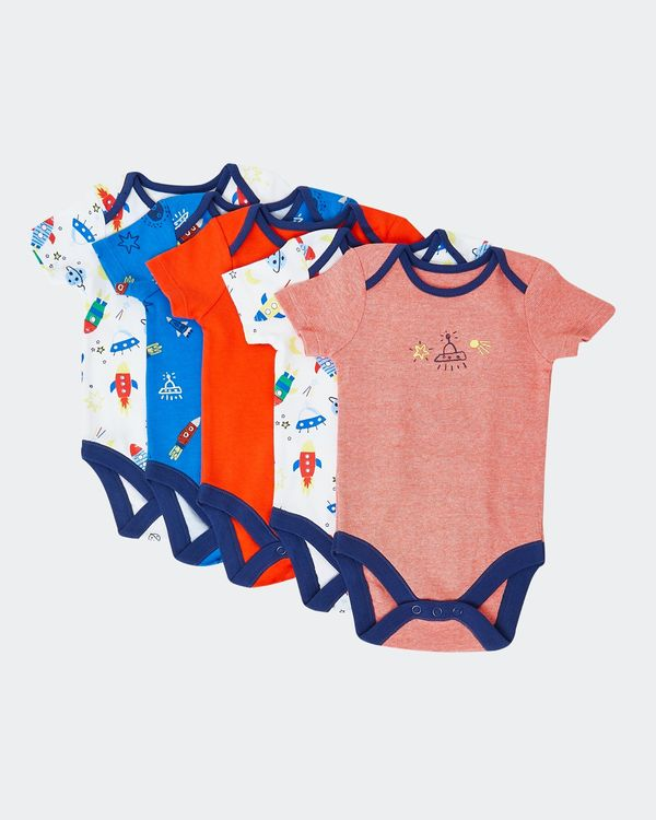 Space Bodysuits - Pack Of 5 (Newborn-23 months)