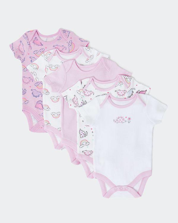 Rainbow Bodysuits - Pack Of 5 (Newborn-23 months)