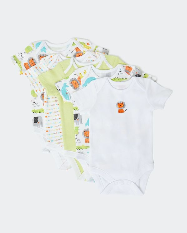Jungle Bodysuit - Pack Of 5 (Newborn-9 months)