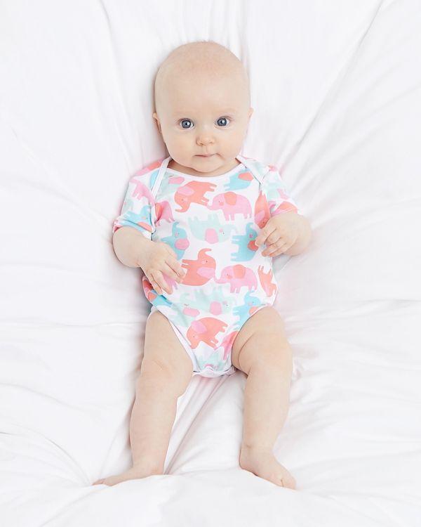 Elephant Bodysuit - Pack of 5 (Newborn - 3 years)