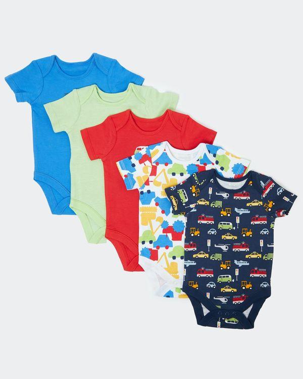 Car Bodysuit - Pack of 5 (Newborn - 3 years)