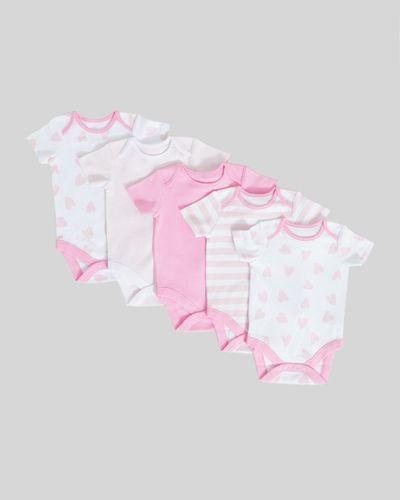 Heart Bodysuits - Pack Of 5 (Newborn-3 years)