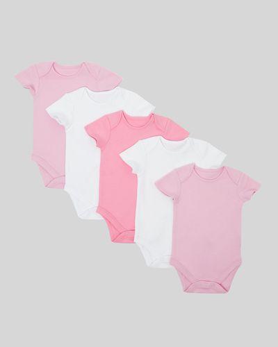 Pink Bodysuits - Pack Of 5 (Newborn-9 months)