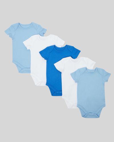 Blue Bodysuit - Pack Of 5 (Newborn-9 months)