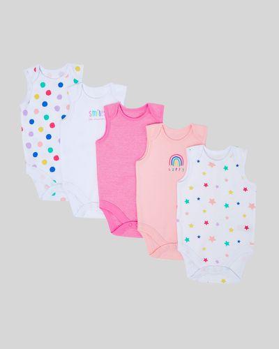 Spot Sleeveless Bodysuit - Pack Of 5 (0 months-3 years)