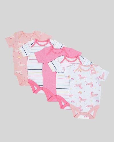 Unicorn Bodysuits - Pack Of 5 (Newborn- 3 years)