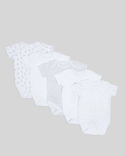 Bunny Bodysuits - Pack Of 5 (Newborn-9 months)