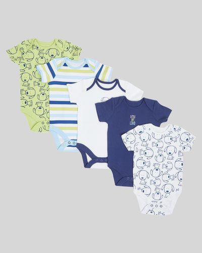 Puppy Bodysuit - Pack Of 5 (Newborn-3 years)