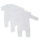 white Baby Sleepsuits - Pack Of 3