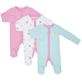 print Girls  Printed Sleepsuits - Pack Of 3