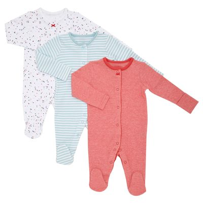 Nautical Sleepsuits - Pack Of 3
