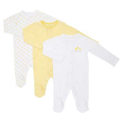 Duck Sleepsuits - Pack Of 3 thumbnail