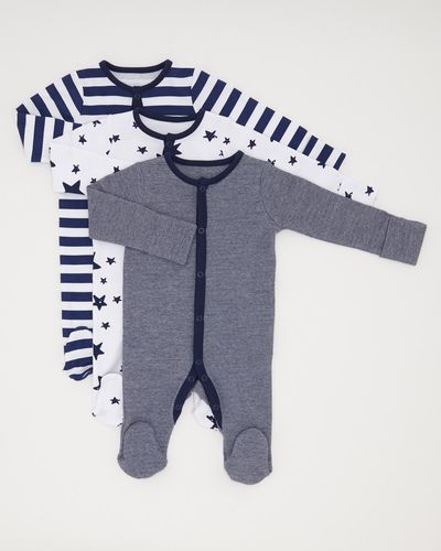 Star Print Sleepsuit - Pack Of 3 (0-23 months)