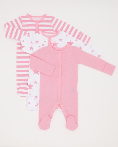 Girls Star Sleepsuit - Pack Of 3 (0-23 months) thumbnail