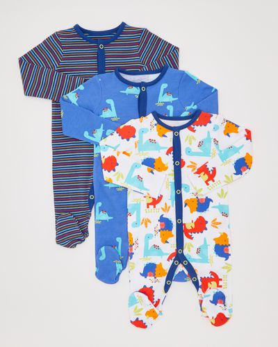 Dino Sleepsuit - Pack Of 3 (0-23 months)