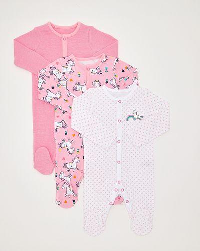 Unicorn Sleepsuits - Pack Of 3