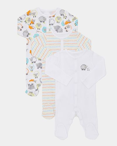 Sheep Sleepsuits - Pack Of 3