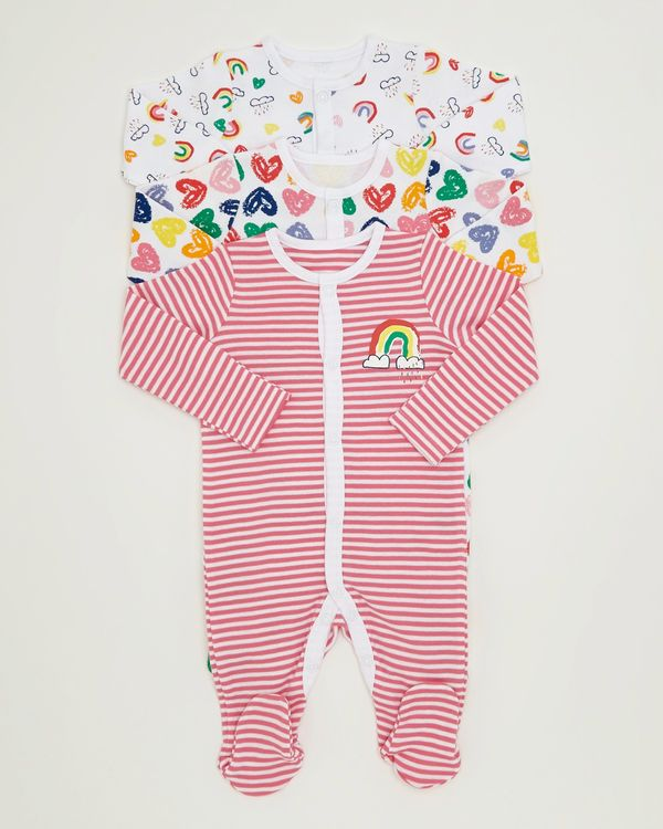 Rainbow Sleepsuits - Pack Of 3