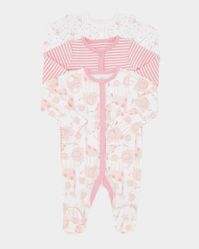 Girls Giraffe Sleepsuit - Pack Of 3