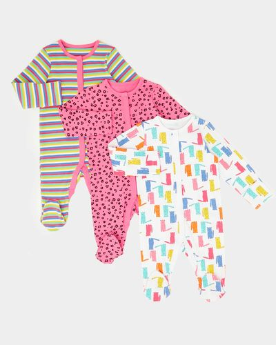 Leopard Sleepsuits - Pack Of 3 (0-23 months)