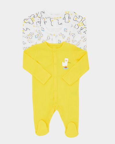 Duck Sleepsuits - Pack Of 3