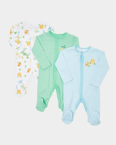 Boys Tropical Sleepsuits - Pack Of 3 (0-23 months)