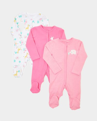 Girls Tropical Sleepsuits - Pack Of 3 (0-23 months)