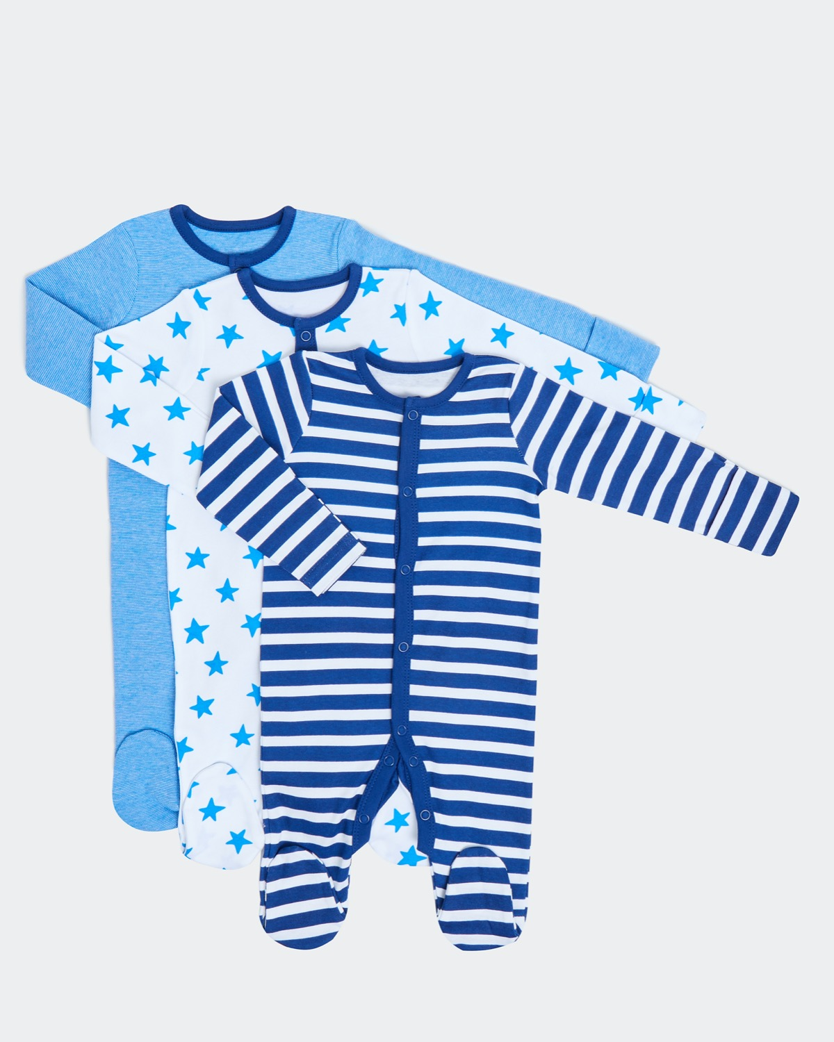 Star Sleepsuit - Pack Of 3 (0-18 months)