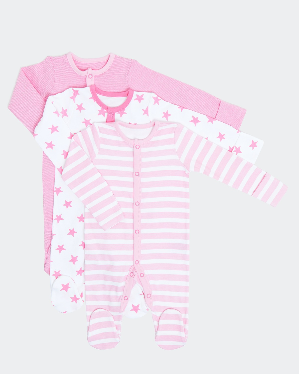 Spot Print Sleepsuit - Pack Of 3 (0-23 months)